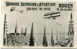 GRANDE SEMAINE D' AVIATION - ROUEN - 19 26 JUIN 1910 - AFFICHE De Jean MARROU - - Reuniones