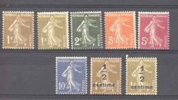 France  :   Yv  277A-79B  ** - 1906-38 Semeuse Con Cameo