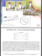 Estonian Fauna – The Stoat Estonia 2021  Stamp Presentation Card (eng) Mi 1020 - Estonie