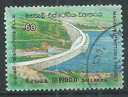 Sri Lanka YT N°709 Barrage Victoria Sur La Rivière Mahaweli Oblitéré ° - Sri Lanka (Ceylon) (1948-...)