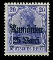 BES 1WK D-MV RUMÄNIEN Nr 11b Ungebraucht X7743A2 - Ocupación 1914 – 18