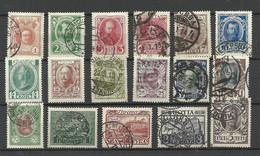 RUSSLAND RUSSIA 1913 Michel 82 - 98 Romanov Dynastia O (14 & 15 K. Are Mint) - Gebruikt