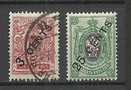 RUSSLAND RUSSIA China 1910 Michel 22 & 29 */o - Cina