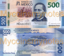 MEXICO 500 Pesos, 2020, P-New, , Not Yet In Catalog, New Signatures, UNC - Mexico