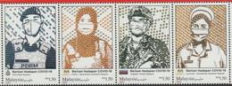 Malaysia 2021 Covid19 Pandemic Coronavirus Frontliners Mint Set Of Four - Malaysia (1964-...)