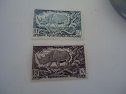 AFRIQUE  OCCIDENTALE MNH STAMPS ANIMALS RHINOCEROS - Rhinoceros