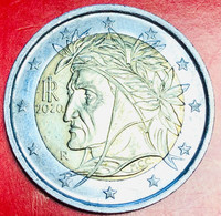 ITALIA - 2020 - Moneta - Dante Alighieri, Dipinto Da Raffaello - Euro - 2.00 - Italie