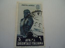 AFRIQUE  OCCIDENTALE ITALY  USED    STAMPS BIRD   BIRDS EAGLES  POSTMARK - Águilas & Aves De Presa