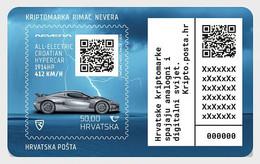 Croatia Kroatien  MNH ** 2021  Crypto Stamp - Rimac Nevera - Croazia