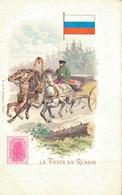 H1109 - Illustrateur - LA POSTE En RUSSIE - Timbres (représentations)
