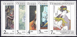 ** Tchécoslovaquie 1991 Mi 3102-6 (Yv 2902-6), (MNH) - Nuevos