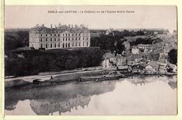 X72085 ⭐ SABLE Sur SARTHE Chateau Vu De L' EGLISE NOTRE DAME  N.D Péniche 1910s - MALICOT - Sable Sur Sarthe