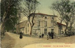 CAPESTANG  Pont Des Coques 4 Avenues Hotel & Café Su Commerce Attelages Colorisée RV - Capestang
