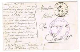 CPA EN FRANCHISE BATAILLON B REGIMENT ETRANGER AVIGNON SEPT 1914 - WW I