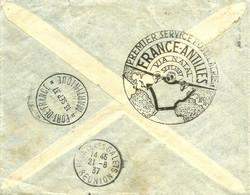 1er Service FRANCE - ANTILLES De LA POINTE Des GALLETS à FORT De FRANCE (Martinique) - 1937 - - Aéreo