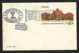 US The National Museum Of History And Technology Postal Stationery - 1961-80