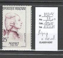 France - Yvert 1137** - Mozart - Piqure à Cheval - Varieties: 1950-59 Mint/hinged