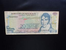 GUATEMALA * : 20 QUETZALES    7.1.1981    P 62c         TB+ ** - Guatemala