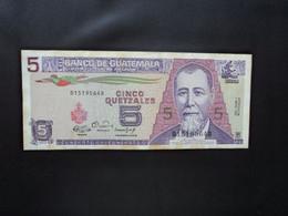 GUATEMALA * : 5 QUETZALES   3.1.1990     P 74a       SUP ** - Guatemala