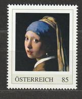 Österreich Personalisierte BM Meisterwerke Jan Vermeer Das Mädchen Mit Dem Perlenohrgehänge ** Postfrisch - Private Stamps