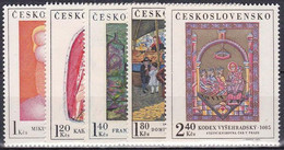 ** Tchécoslovaquie 1970 Mi 1965-9 (Yv 1809-13), (MNH) - Nuevos