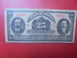 "MEXIQUE 25 Centavos 1915 Série ""I"" Circuler - Mexico"