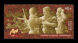 RUSSIE/RUSSIA/RUSSLAND/ROSJA 2019 MI.2655** ,ZAG.2437,YVERT.World War II. Way To The Victory. Lifting The Siege Of Le - Unused Stamps