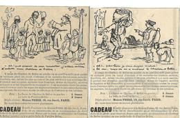 Humour / Chien / 4 Pub Coupures Journal / FRERE à PARIS AUTOPLASME Charbon BELLOC Illustrateur POULBOT - Pubblicitari