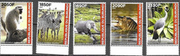 BURUNDI, 2021, MNH, FAUNA OF BURUNDI, BIRDS, ELEPHANTS, MONKEYS, ZEBRAS, HIPPOS, 5v, OFFICIAL ISSUE - Other
