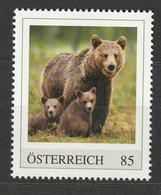 Österreich Personalisierte BM Gefährdete Tiere In Österreich Braunbär ** Postfrisch - Private Stamps