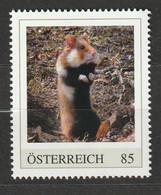 Österreich Personalisierte BM Gefährdete Tiere In Österreich Feldhamster ** Postfrisch - Private Stamps