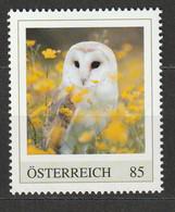 Österreich Personalisierte BM Gefährdete Tiere In Österreich Schleiereule ** Postfrisch - Private Stamps