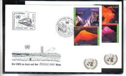 WIT409 UNO WIEN 2002  MICHL 363/66  Auf 2 STÜCK WEISSE KARTEN - White Cards - Gebraucht