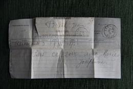 Télégramme Expédié De ORNAISONS Dans L'AUDE En 1922 - Collections