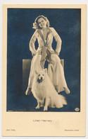 LILIAN HARVEY , With Dog, Et Son Chien - Actors ROSS VERLAG , Actor, Vintage Old Photo Postcard - Acteurs