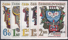 ** Tchécoslovaquie 1974 Mi 2195-9 (Yv 2040-4), (MNH) - Nuevos