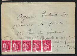 FRANCE 1940:  LSC D'Ajaccio Pour La Croix-Rouge à Genève Affr. à 2,50F - Kriegsausgaben