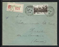 FRANCE 1941:  LSC Rec. De Marseille Pour La Croix-Rouge à Genève Affr. à 5F - Kriegsausgaben