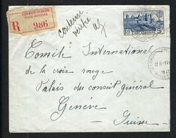 FRANCE 1941:  LSC Rec. De Clermont-Ferrand Pour La Croix-Rouge à Genève Affr. à 5F - Kriegsausgaben