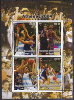 Olympics 2004 - Basketball - CONGO - Sheet MNH - Summer 2004: Athens