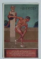 50398 Cartolina Illustrata - Antichi Giochi Olimpici - Discobolo - VG 1912 - Giochi Olimpici