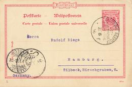 Postkarte, Ab Deutsche Seepost (aa9946) - Ganzsachen