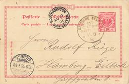 Postkarte, Ab Deutsche Seepost (aa9947) - Ganzsachen