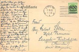 MiNr.308 Cover Cöln - Laasphe - Friedrichshütte 1923 - Brieven En Documenten