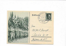 Ganzsachenkarte Aus Unterweißbach 1937 - Brieven En Documenten