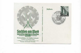 Ganzsachenkarte Aus Dresden 1938 - Brieven En Documenten