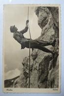 """(12/1/10) Postkarte/AK """"Unser Heer"""" Motiv Abseilen - Weltkrieg 1939-45"""