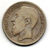 BELGIUM, 2 Francs, Silver, Year 1887, KM #31, DER BELGEN - 08. 2 Francs