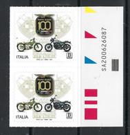 2021 ITALIA ⭐ 100° Moto GUZZI ⭐ Eccellenze Del Sistema Produttivo Ed Economico - Coppia Con Codice Alfanumerico - 2011-...: Ungebraucht