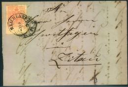 1857, Faltbrief Ab REICHENBERG Mit 3 Kreuzer Riesenrandig, Unten 8 Mm! Nach Zittau - Brieven En Documenten